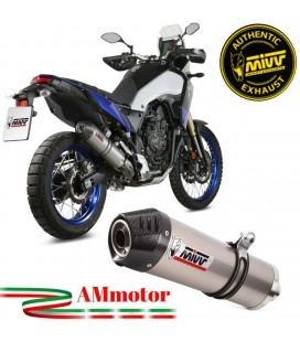 Mivv Yamaha Tenere' 700 Terminale Di Scarico Moto Marmitta Oval Titanio Carbon Cap Omologato