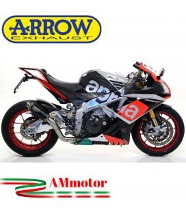Arrow Aprilia Rsv 4 RR / RF 17 - 2018 Terminale Di Scarico Moto Marmitta GP2 Inox Nero Omologato