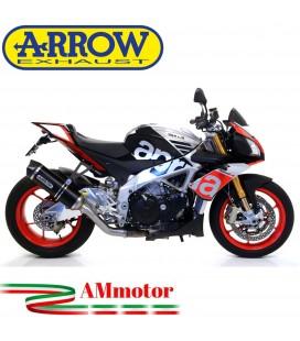 Arrow Aprilia Tuono V4 1100 15 - 2016 Terminale Di Scarico Moto Marmitta Race-Tech Inox Nero Omologato