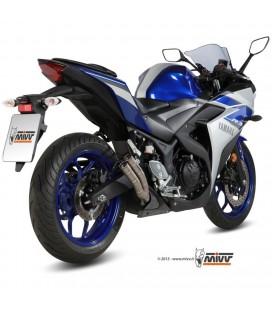 Mivv Yamaha Yzf R3 Terminale Di Scarico Marmitta Double Gun Titanio Moto Omologato