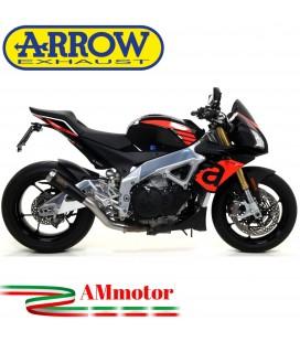 Arrow Aprilia Tuono V4 1100 17 - 2018 Terminale Di Scarico Moto Marmitta Pro-Race Nichrom Dark Racing