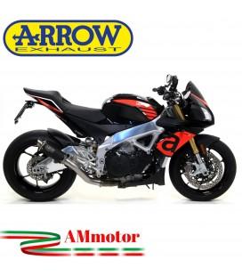 Arrow Aprilia Tuono V4 1100 17 - 2018 Terminale Di Scarico Moto Marmitta GP2 Inox Nero Omologato
