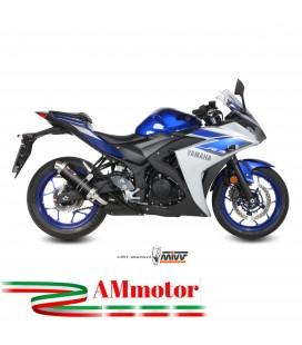 Mivv Yamaha Yzf R3 Terminale Di Scarico Marmitta Gp Carbonio Moto Omologato