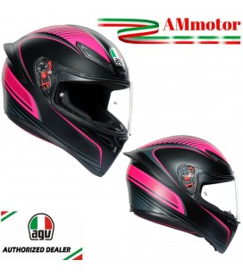 Casco Agv K1 Warmup Black Pink Integrale Moto Da Donna