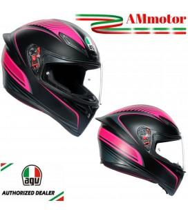 Casco Agv K1 Warmup Black Pink Integrale Moto Da Donna