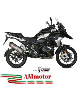 Mivv Bmw R 1250 Gs 2019 Terminale Scarico Oval Titanio Carbon Cap Moto Omologato