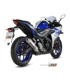 Mivv Yamaha Yzf R3 Terminale Di Scarico Marmitta Gp Titanio Moto Omologato