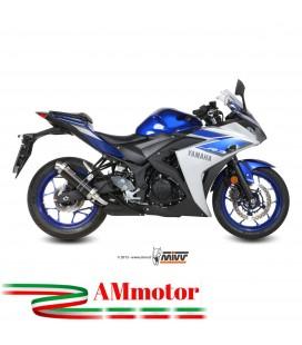 Mivv Yamaha Yzf R3 Terminale Di Scarico Marmitta Gp Black Inox Nero Moto Omologato