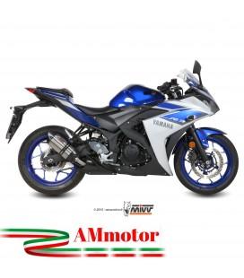 Mivv Yamaha Yzf R3 Terminale Di Scarico Marmitta Suono Inox Moto Omologato
