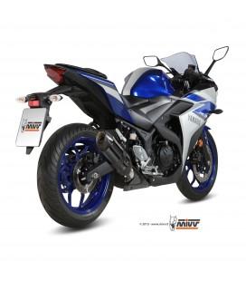 Mivv Yamaha Yzf R3 Terminale Di Scarico Marmitta Suono Black Moto Omologato