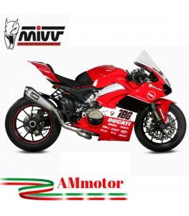 Impianto Di Scarico Completo Racing Mivv Ducati Panigale V4 Moto Full Titanio