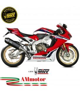 Mivv Honda Cbr 1000 RR 17 - 2019 Terminale Di Scarico Moto Marmitta Speed Edge Nero Omologato