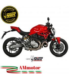 Mivv Ducati Monster 821 18 - 2020 Terminale Di Scarico Moto Marmitta Mk3 Carbonio