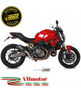 Mivv Ducati Monster 821 14 - 2017 Terminale Di Scarico Moto Marmitta Mk3 Carbonio