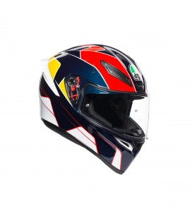Casco Agv K1 Pitlane Blue Red Yellow Integrale Moto