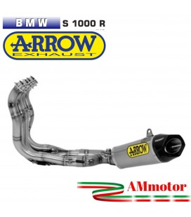Arrow Bmw S 1000 R 14 - 2016 Kit Completo Competion Evo Full Titanio Con Terminale Works