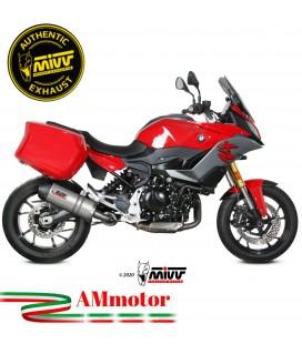 Mivv Bmw F 900 XR Terminale Di Scarico Moto Marmitta Oval Titanio Carbon Cap Omologato