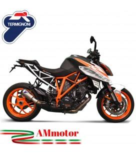 Termignoni Ktm Super Duke 1290 17 - 2019 Terminale Di Scarico Moto Marmitta GP2R-RHT Titanio
