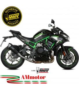 Mivv Kawasaki Z 1000 H2 Terminale Di Scarico Moto Marmitta Delta Race Black