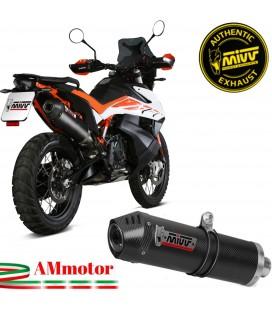 Mivv Ktm 790 Adventure / R Terminale Di Scarico Moto Marmitta Oval Carbonio Cap Omologato