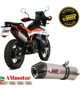 Mivv Ktm 790 Adventure / R Terminale Di Scarico Moto Marmitta Oval Titanio Carbonio Cap Omologato