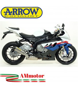 Arrow Bmw S 1000 RR 09 - 2011 Terminale Di Scarico Moto Marmitta Works Titanio Per Collettori Originali Omologato