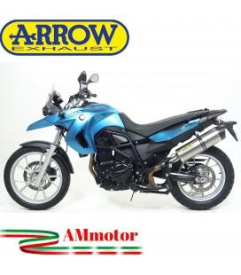Arrow Bmw F 650 GS 08 - 2012 Terminale Di Scarico Moto Marmitta Maxi Race-Tech Titanio Omologato