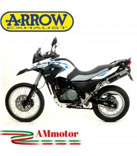 Arrow Bmw G 650 GS Sertao 12 - 2014 Terminale Di Scarico Moto Marmitta Race-Tech Alluminio Dark Omologato