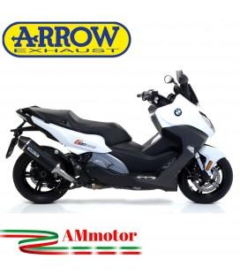Arrow Bmw C 650 Sport 16 - 2020 Terminale Di Scarico Moto Marmitta Race-Tech Alluminio Dark Omologato