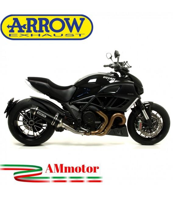 Arrow Ducati Diavel 11 - 2016 Terminale Di Scarico Moto Marmitta Race-Tech Alluminio Dark