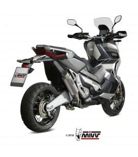 Mivv Honda X-Adv 750 Terminale Di Scarico Marmitta Gp Pro Titanio Moto Scooter Omologato