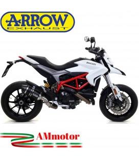 Arrow Ducati Hypermotard / Hyperstrada 939 16 - 2018 Terminale Di Scarico Moto Marmitta Race-Tech Alluminio Dark