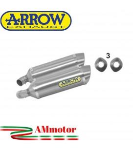 Arrow Ducati Monster 696 08 - 2014 Terminali Di Scarico Moto Marmitte Thunder Alluminio