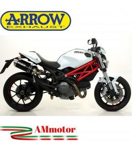 Arrow Ducati Monster 796 10 - 2014 Terminali Di Scarico Moto Marmitte Thunder Alluminio Dark