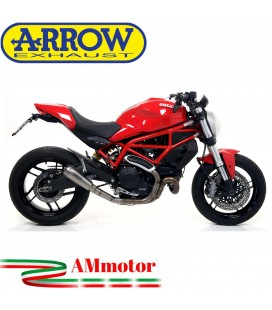 Arrow Ducati Monster 797 17 - 2018 Terminale Di Scarico Moto Marmitta Pro-Race Titanio Racing