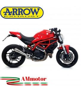 Arrow Ducati Monster 797 17 - 2018 Terminale Di Scarico Moto Marmitta Pro-Race Nichrom