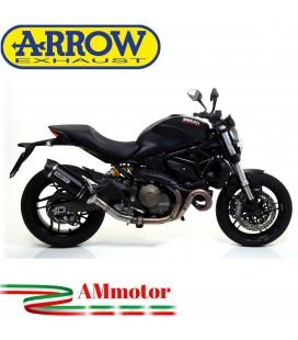 Arrow Ducati Monster 821 14 - 2017 Terminale Di Scarico Moto Marmitta Race-Tech Alluminio Dark
