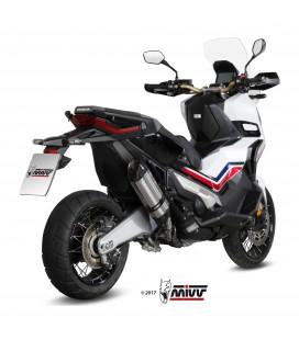 Mivv Honda X-Adv 750 Terminale Di Scarico Marmitta Suono Inox Moto Scooter Omologato