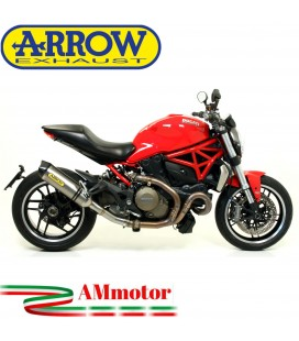 Arrow Ducati Monster 1200 14 - 2015 Terminale Di Scarico Moto Marmitta Race-Tech Titanio
