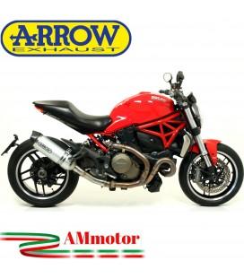 Arrow Ducati Monster 1200 14 - 2015 Terminale Di Scarico Moto Marmitta Race-Tech Alluminio