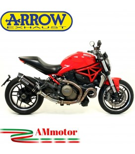 Arrow Ducati Monster 1200 14 - 2015 Terminale Di Scarico Moto Marmitta Race-Tech Alluminio Dark