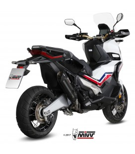 Mivv Honda X-Adv 750 Terminale Di Scarico Marmitta Suono Black Moto Scooter Omologato