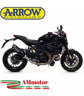 Arrow Ducati Monster 1200 R 16 - 2019 Terminale Di Scarico Moto Marmitta Race-Tech Alluminio Dark
