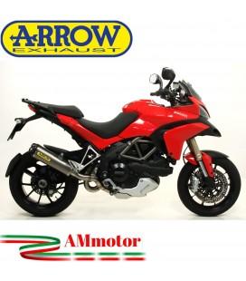 Arrow Ducati Multistrada 1200 / 1200 S 10 - 2014 Terminale Di Scarico Moto Marmitta Works Titanio