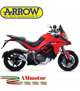 Arrow Ducati Multistrada 1200 / 1200 S 15 - 2017 Terminale Di Scarico Moto Marmitta Indy Race Alluminio