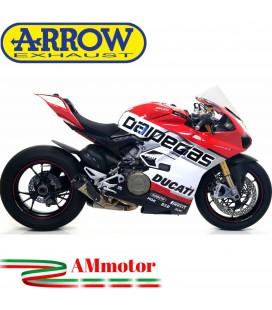 Arrow Ducati Panigale V4 18 - 2020 Terminali Di Scarico Moto Works Titanio Con Raccordi In Acciaio