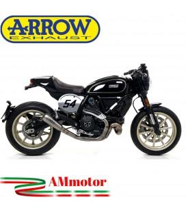 Arrow Ducati Scrambler 800 Cafe' Racer 17 - 2019 Terminale Di Scarico Moto Marmitta Pro-Race Titanio Racing