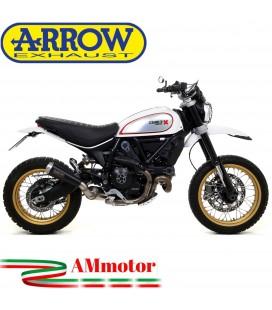 Arrow Ducati Scrambler 800 Desert Sled 17 - 2019 Terminale Di Scarico Moto Marmitta Pro-Race Nichrom Dark