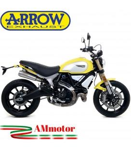 Terminali Di Scarico Arrow Ducati Scrambler 1100 18 - 2019 Slip-On Pro-Race Nichrom Moto Omologati