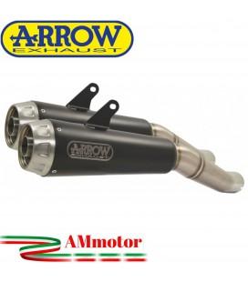 Terminali Di Scarico Arrow Ducati Scrambler 1100 18 - 2019 Slip-On Pro-Race Nichrom Dark Moto Omologati